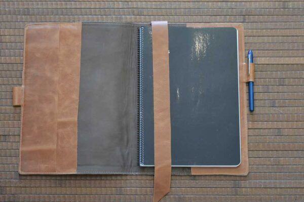 funda de piel para cuaderno