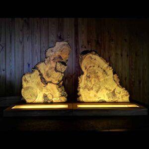 lamparas de mesa de madera