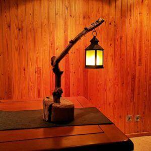 lampara con farolillo