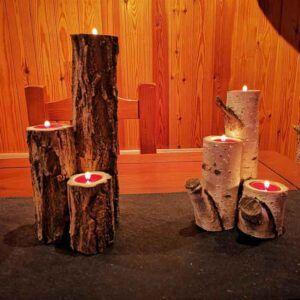 lamparas de madera originales