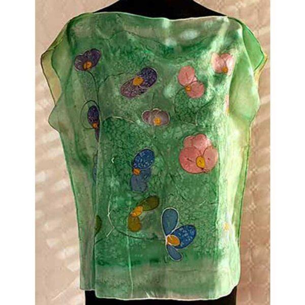 Blusa de seda flores silvestres