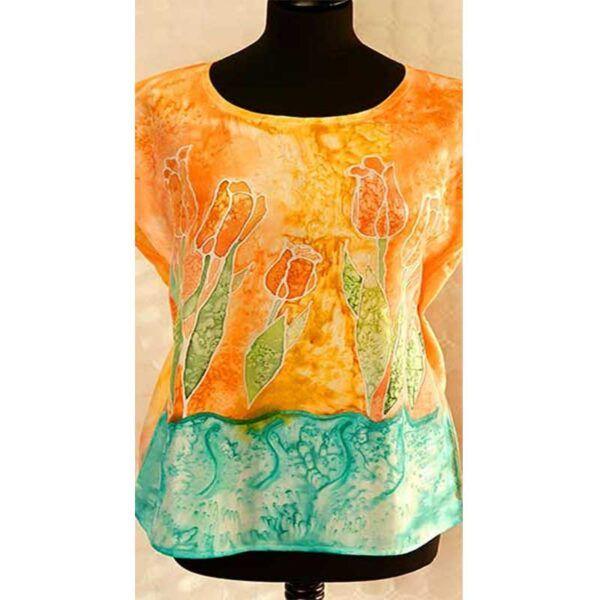 Blusa de seda natural, moda