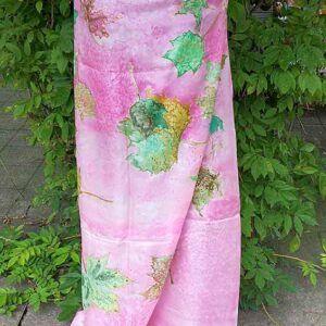 Pañuelo de seda, pañuelo de seda natural pintado mano