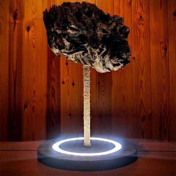 Lámpara rústica de madera