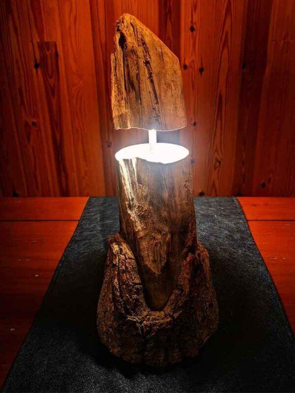 Lampara rustica de madera para decoracion de salones u oficinas