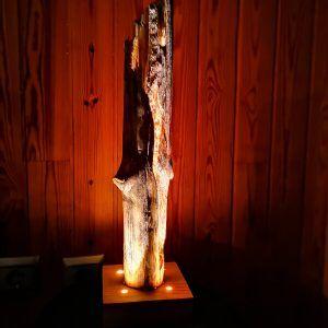Lampara artesanal de madera, lamparas rusticas
