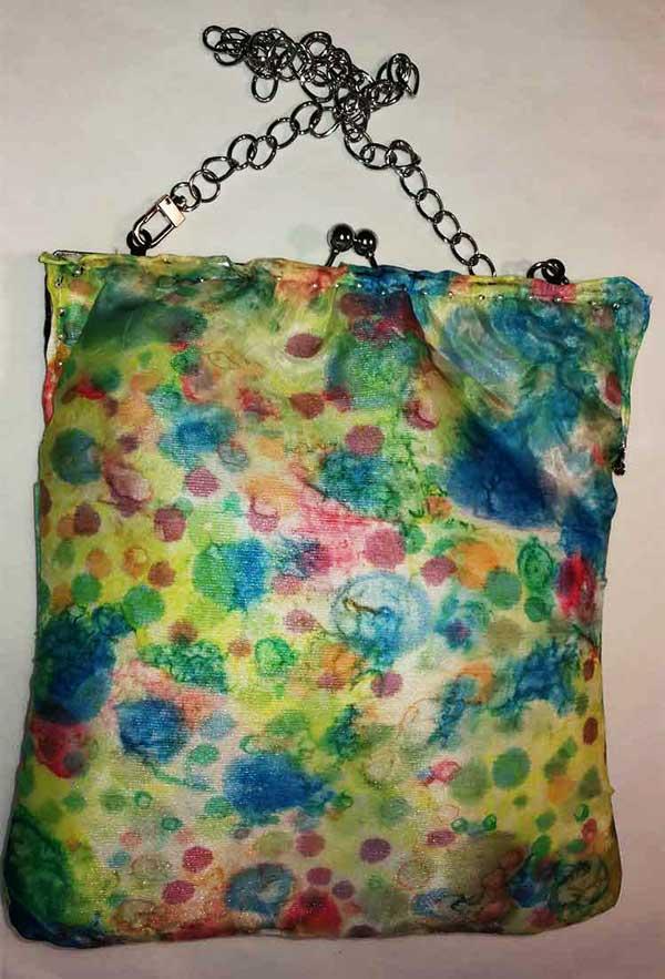 bolso de seda de señora, bolso de mujer