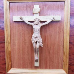 cuadro madera jesus, talla de madera, decoracion