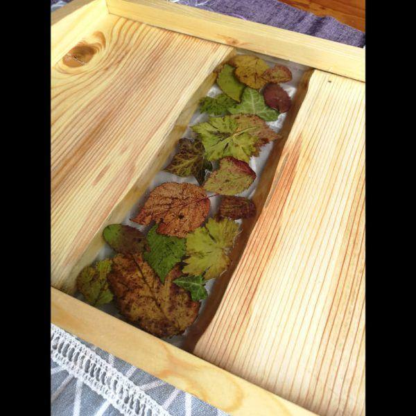 Bandeja de madera, bandeja de madera de servir