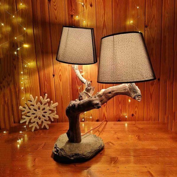 lampara rustica de madera, decoracion hogar