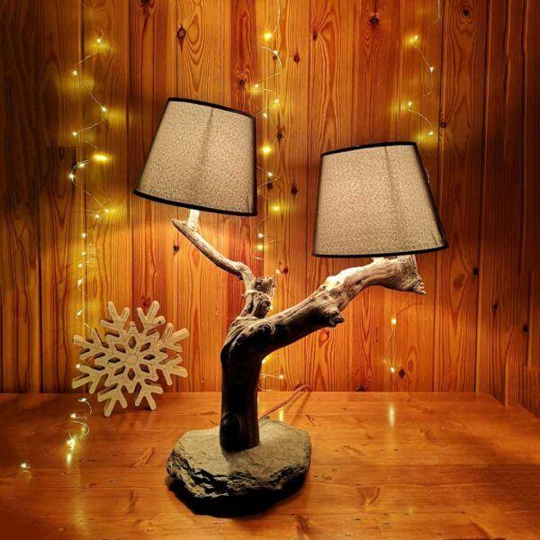 Lámpara Rústica Origen, lampara rustica de madera, decoracion hogar