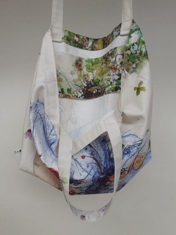 bolsa de tela hecha a mano, bolsas ecologicas