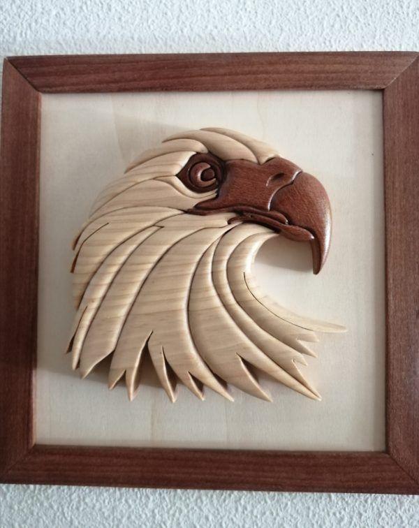 Cuadro Águila de madera