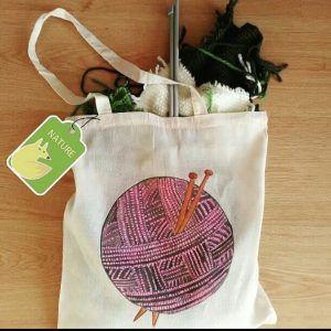 bolsa de tela, bolsa de tela de algodon, no al plastico