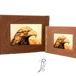 "Libreta artesanal ""Águila"" con cosido japonés."