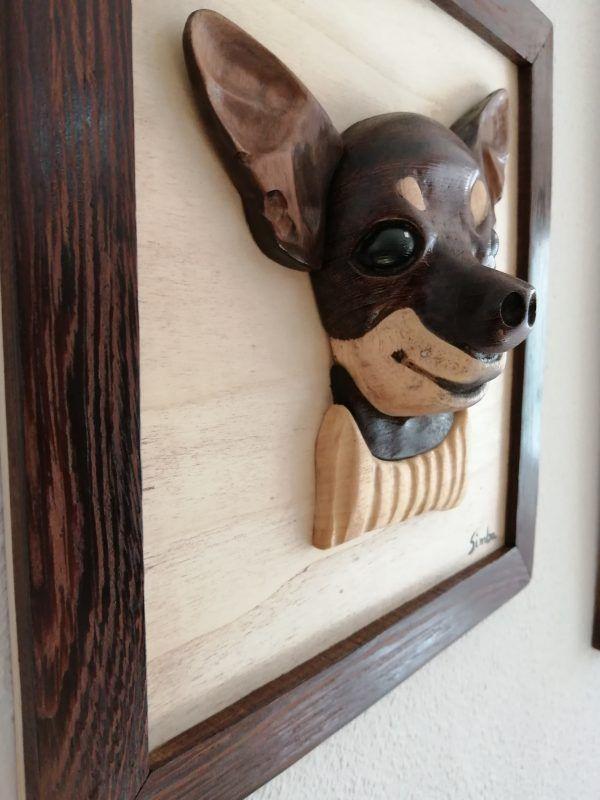 cuadro en madera, intarsia 3d