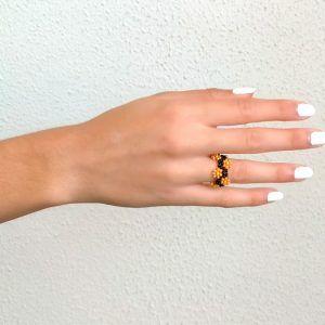 anillo de mujer, anillo artesanal daisy La Tita Bijoux s1