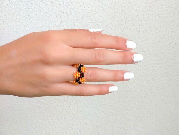 anillo veraniego Daisy La Tita Bijoux
