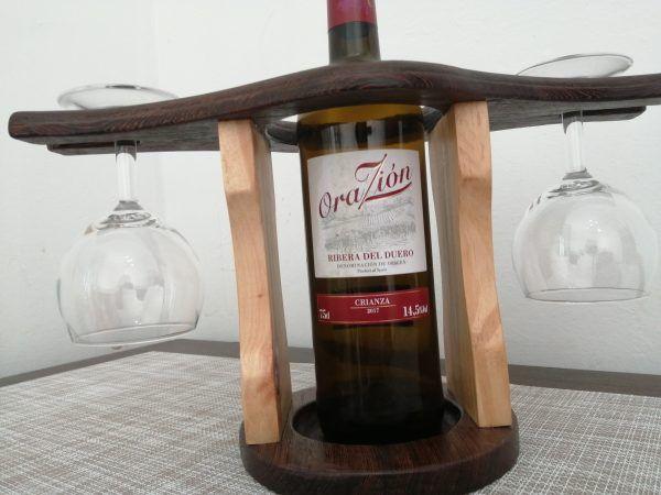 botellero con porta copas