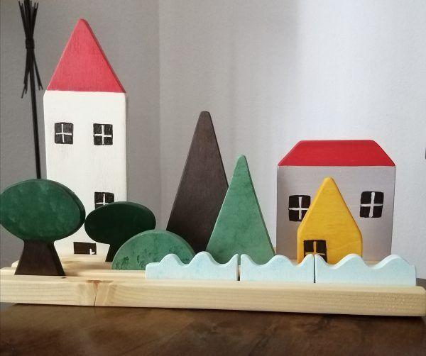 juguetes de madera para niños, ciudad armable, juguetes educativos