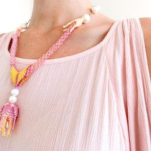 collar floral artesano la tita bijoux
