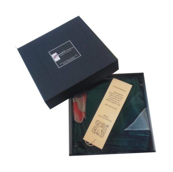 caja regalo y etiqueta