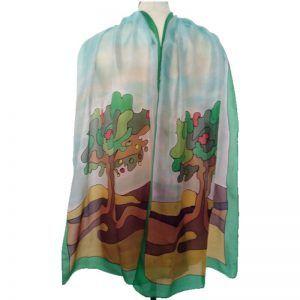 pañuelo de seda de mujer