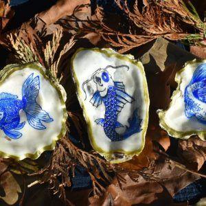 conchas naturales pintadas a mano